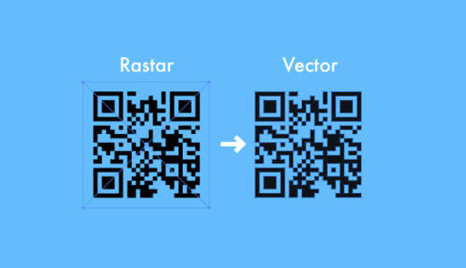 jpgなどのQRコードをベクターデータに変換する簡単な方法【Macのみ】